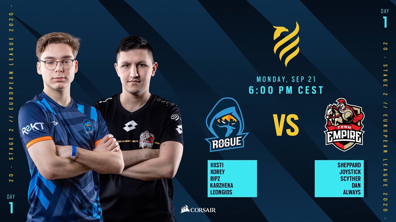 Rogue vs Team Empire // Rainbow Six European league 2020 - Stage 2 - Playday #1