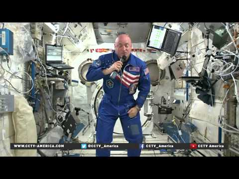 US and Russian space explorers work together onboard ISS for 1 year
