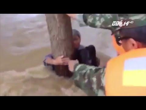 (VTC14)_Cột vợ vào thân cây để bản thân bị lũ cuốn trôi