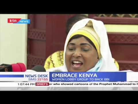 Women leaders under the Embrace Kenya banner show support for BBI