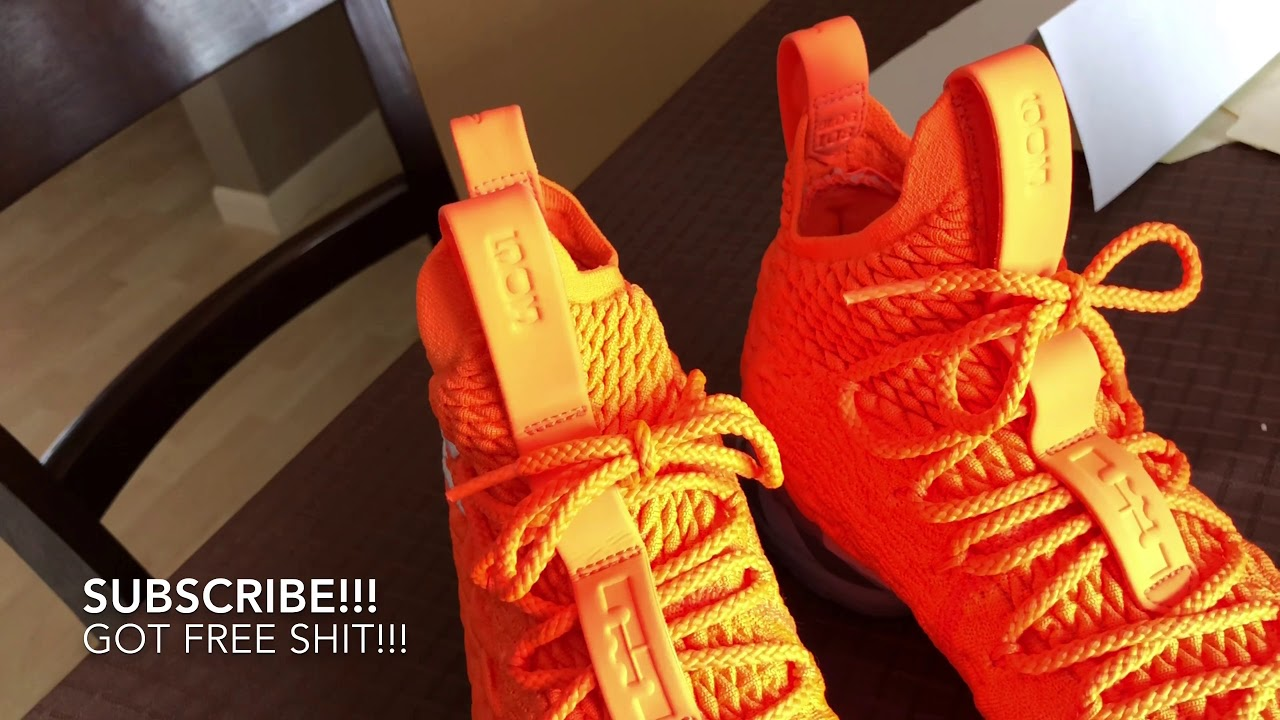 "official photos 7ed62 09edf Review Time And On The Foot Look LeBron 15 ""Orange Box"" PE! Don't Buy Til  You Try!"