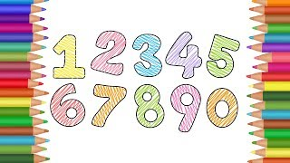 Number Coloring Book for Kids | Learn and Color Number Coloring Pages | Amazing Kids