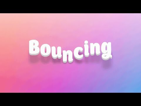 Animation bouncing text effect