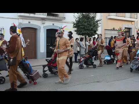 Santa Marta De Los Barros.Desfile De Carnaval En Calle Badajoz 2º.22-2-2020