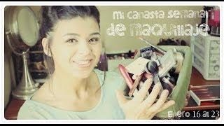 Mi canasta de maquillaje semanal | enero17 al 23