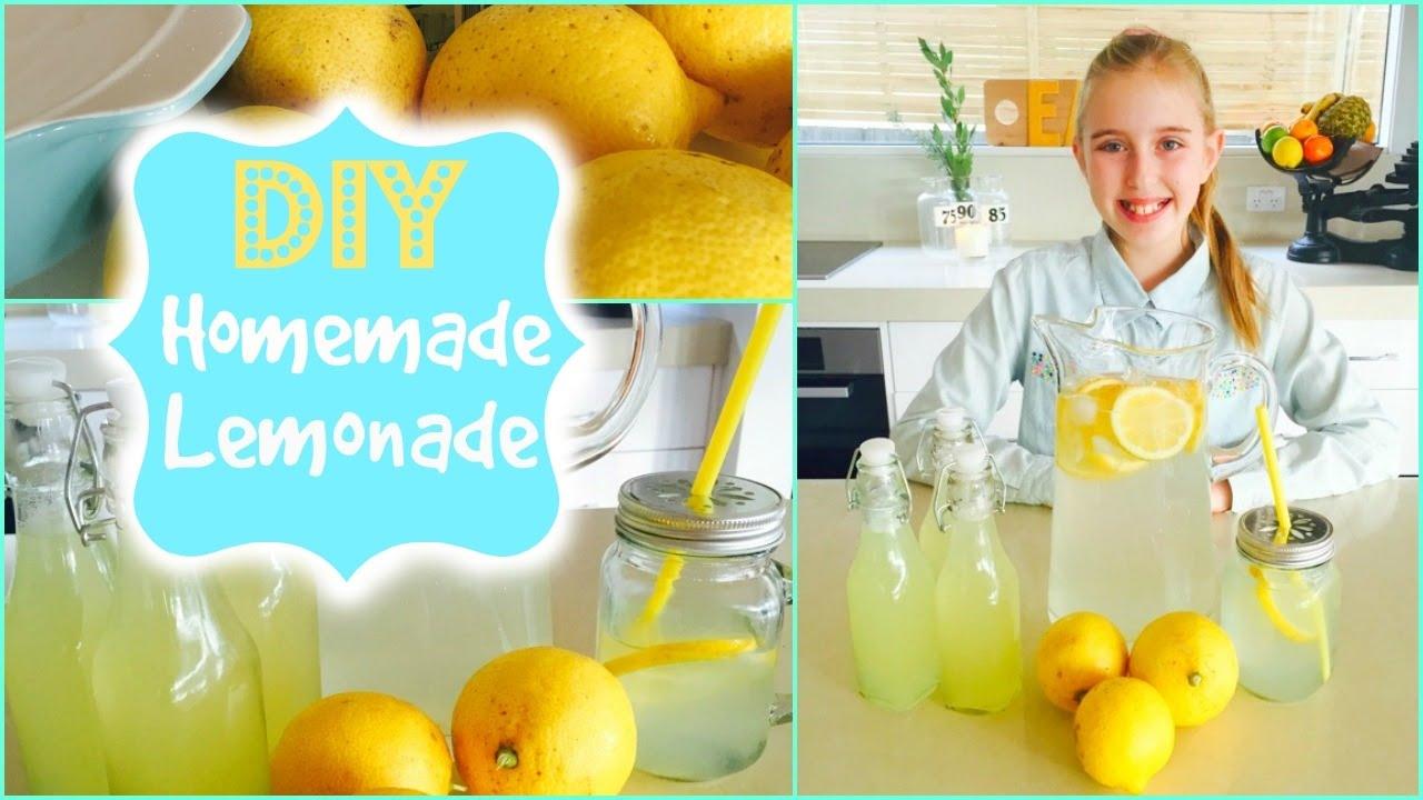 How To Make Lemonade Easy Diy Lemonade Recipe Youtube