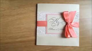 How to Tie Ribbon Bow on Wedding Invitation