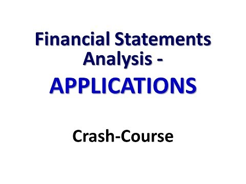 FINANCIAL STATEMENT ANALYSIS   Syllabus   ADVANCED  13 APPLICATIONS