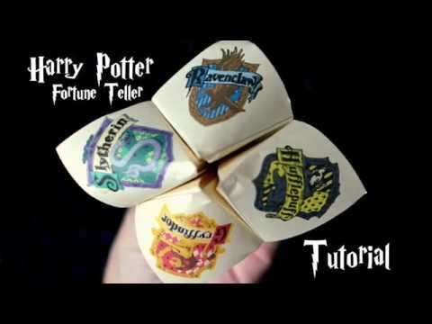 Harry Potter Fortune Teller Tutorial And Printable
