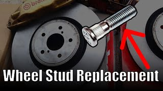 How to replace a wheel stud // Installing extended wheel studs