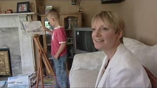 Kieron Williamson - 6 year old Artist on ITV News