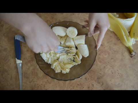 Простой рецепт бананового крема для блинов.