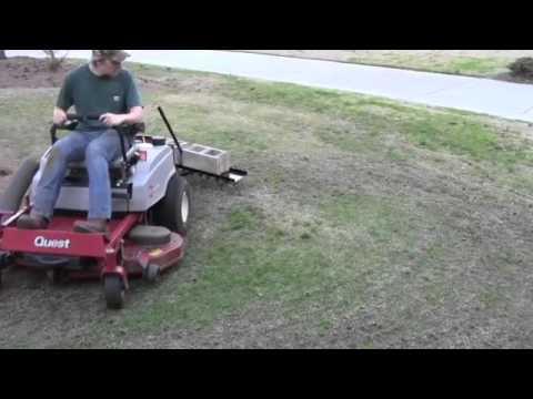 Agrifab 48inch Tow Behind Dethatcher Youtube