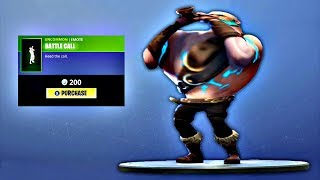 New BATTLE CALL Fortnite Emote Bass Boosted Earrape MEME