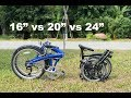 Folding Bike Wheel Size - 16-inch vs 20-inch vs 24-inch Comparison