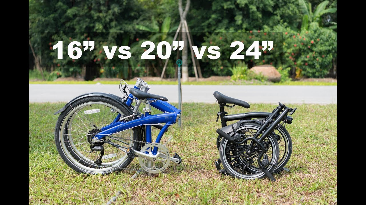 Folding Bike Wheel Size 16 Inch Vs 20 Inch Vs 24 Inch Comparison