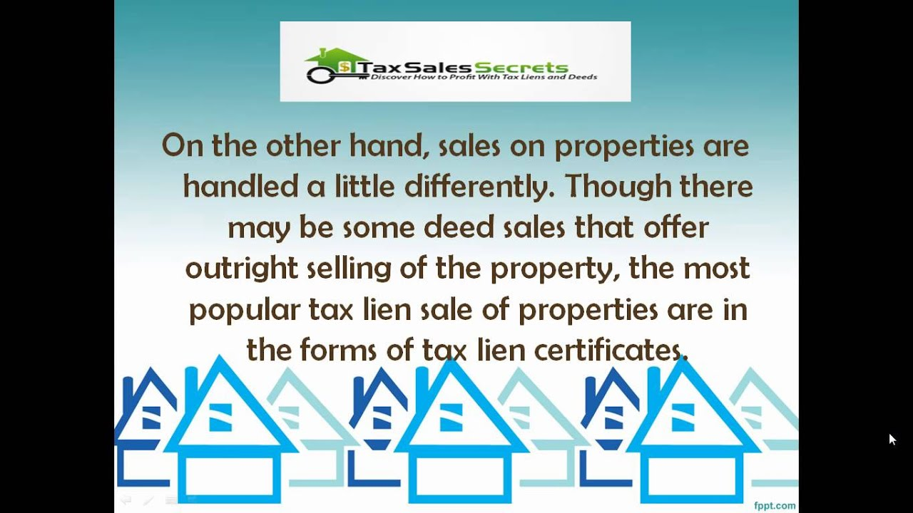 A Look At Government Tax Lien Sales Youtube