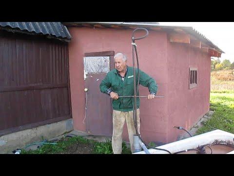 ручное гидробурение своими руками подробно( скважина в глине)