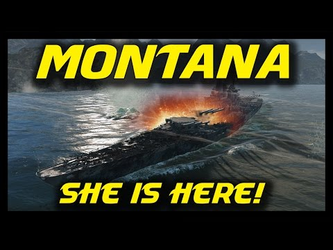 ► World of Warships MONTANA Gameplay: Montana vs Yamato? - Tier 10 US Navy Battleship