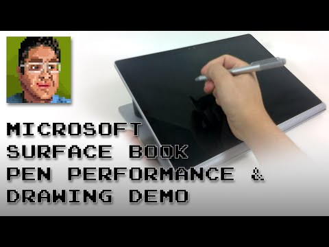 Microsoft Surface Book: Pen Performance & Drawing Demo