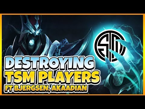 DESTROYING 4 TSM PLAYERS FT. BJERGSEN, AKAADIAN | Tarzaned