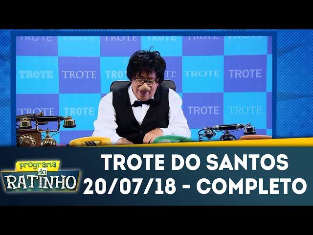 Trote do Santos | Programa do Ratinho (20/07/2018)