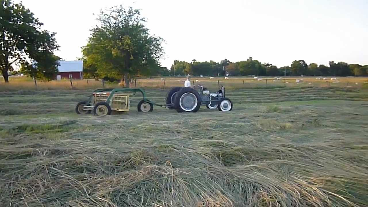 Raking Hay With 1945 Ford 2N
