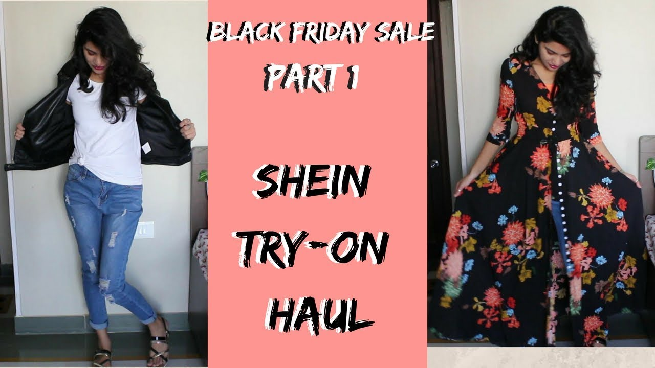 2696f4d212fe Shein Try-on haul & Review| Part-1 Black Friday Sale - YouTube