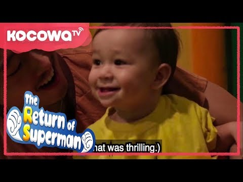 [The Return of Superman] Ep 196_ Steven Yeun took William and Sam to a Korean spa