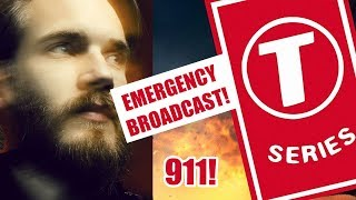 Pewdiepie vs T-Series: Super Bowl Sunday Emergency Broadcast