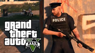 GTA 5 Mods - PLAY AS A COP #1 (GTA 5 PC Mods Gameplay)