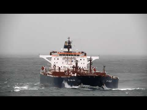 Crude Oil Tanker ST. HELEN Arrives In A Coruña [4K]