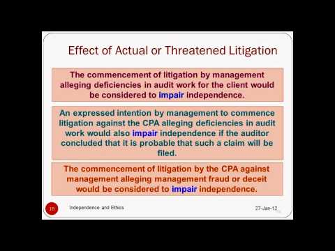 Auditing: Independence and Ethics - Prof. Helen Brown