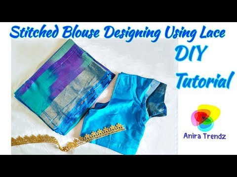 Stitched Blouse Embroidery Design Tutorial using Lace thumbnail