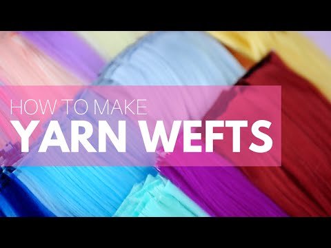 how-to-make-a-doll-wig-|-making-yarn-wefts-|-mozekyto