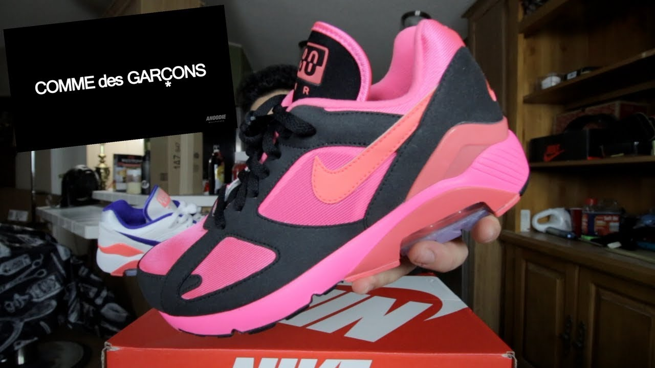 24b6b7084fdf3 COMME DES GARCONS X NIKE AIR MAX 180 CDG REVIEW!!! - YouTube