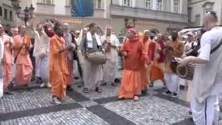HH Kadamba Kanana Swami Harinam In Prague 23 05 2014
