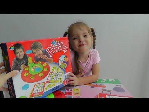 BINGO настольная игра для детей Бинго с картинками Board game for kids with pictures