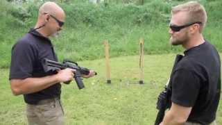 laser rifle versus real rifle