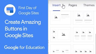 Create amazing buttons in Google Sites