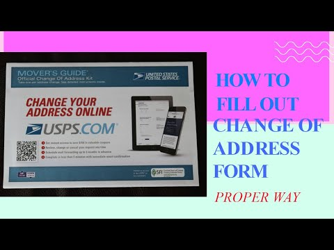 HOW TO FILL OUT CHANGE OF ADDRESS FORM DOMESTIC ONLY | POST OFFICE FORM