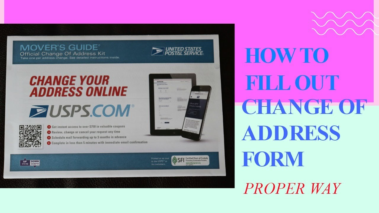 How To Fill Out Change Of Address Form Domestic Only Post Office Form Youtube