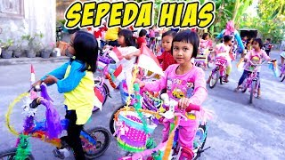 SERU!!! Lomba 17 Agustus Sepeda Hias, Sepedanya Lucu dan Warna-Warni