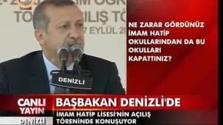Başbakan Erdoğan. Anadolu İmam Hatip Lisesi Açılış Konuşması.
