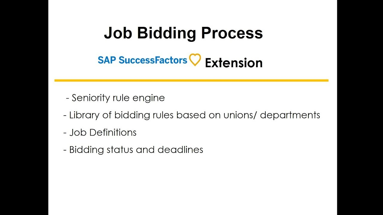 job bidding with seniority rules for unionized workforce sap