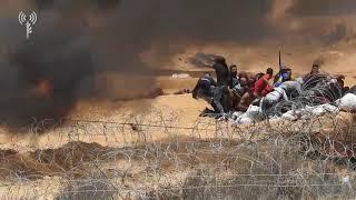 Арабы из Газы разбирают заградительный забор