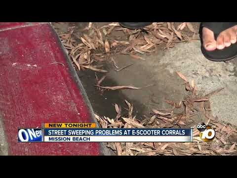 MORNING NEWS - E-Scooter Corrals Preventing Street Sweeping In Mission Beach
