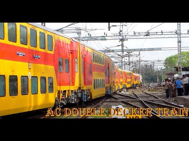 Inaugural 22625 Chennai - Bangalore AC Double Decker Departs Chennai Central