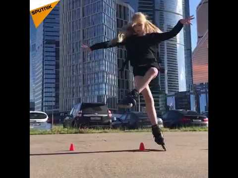 Russian Girl's Freestyle Roller Skating Amazes Europe