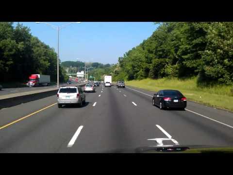 Interstate 84 West through Danbury, Connecticut